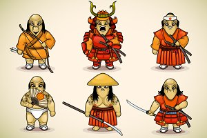 Set of samurai