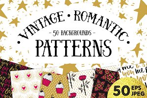 50 Valentine's Day Seamless Patterns
