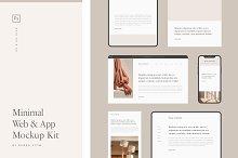 Minimal Web & App Mockup Kit by  in Mockups