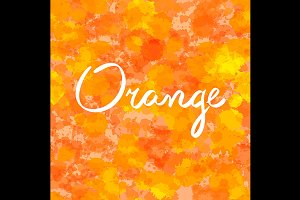 seamless lettering orange