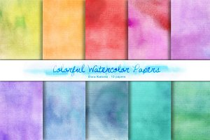 Colorful Watercolor Papers