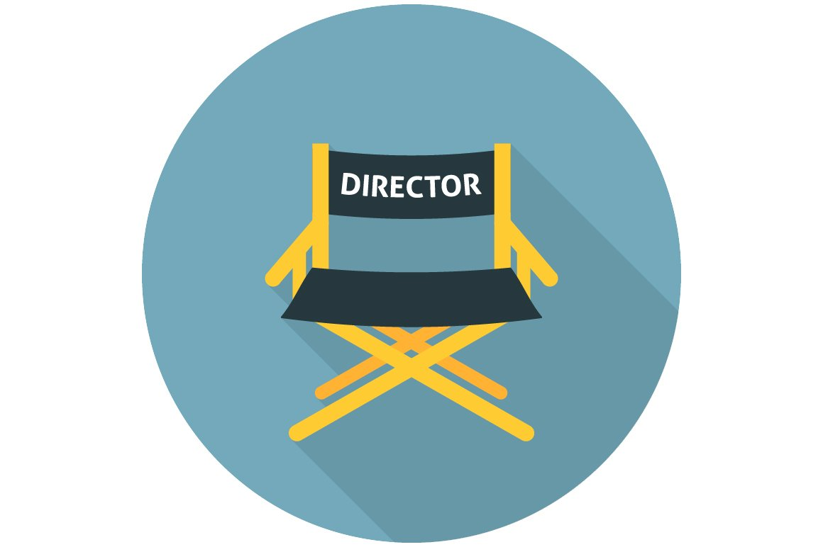 Directors Chair Flat Icon Icons Creative Market