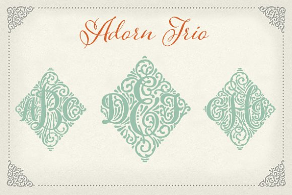 Adorn Trio in Symbol Fonts