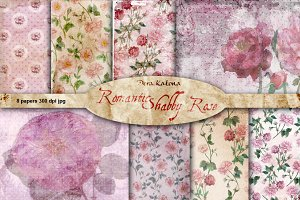 Romantic Shabby Rose Vintage Paper