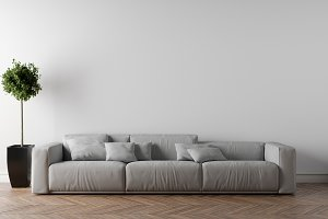 Sofa in empty room