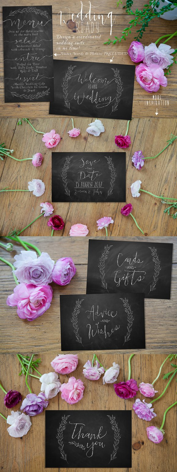The Authentic Chalkboard Bundle Layer Styles Creative Market