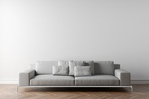 White wall and sofa