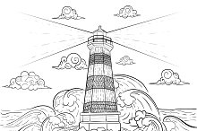 Beacon coloring book for adult.