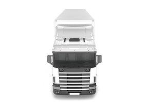 Big Cargo Truck on white background