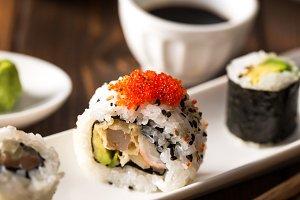 Maki sushi meal