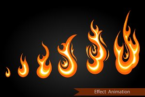 Vector effect animation. fire