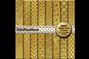 Gold on Gold Embossed Digital Paper