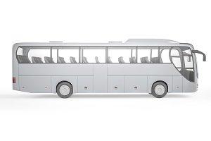 Bus on white background