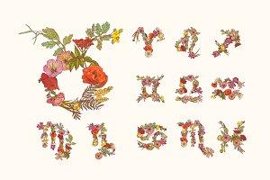Floral zodiac
