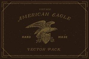 Engraving Vintage American Eagle