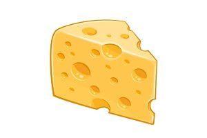 Piece of cheese.