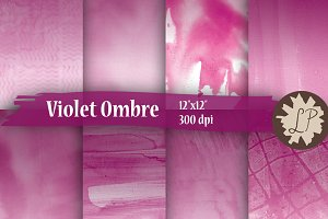 Purple Ombre Watercolour Papers