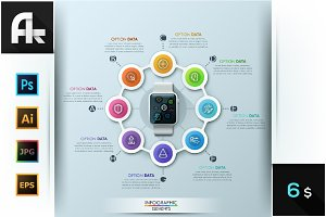 Smart Watch Infographic Design