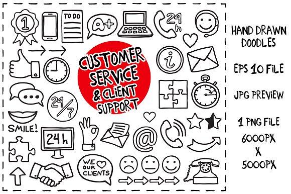 Customer Service Doodles set
