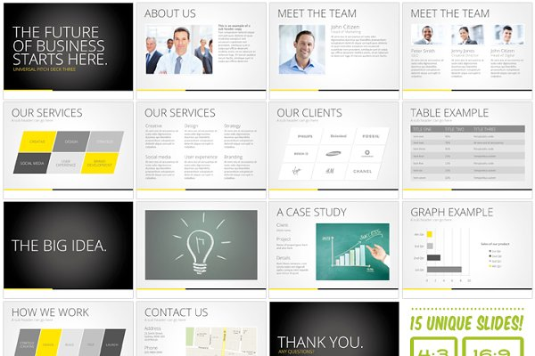 pitch deck slides