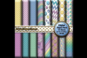 Pastel Embossed Digital Paper