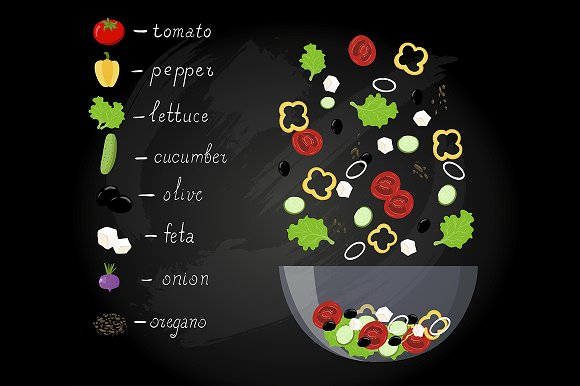 Greek salad menu restaurant