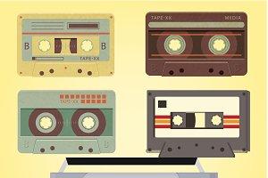 Retro Cassette Vector