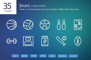 33 Sports Line Icons