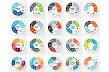 20 Circle Arrows For Infographic