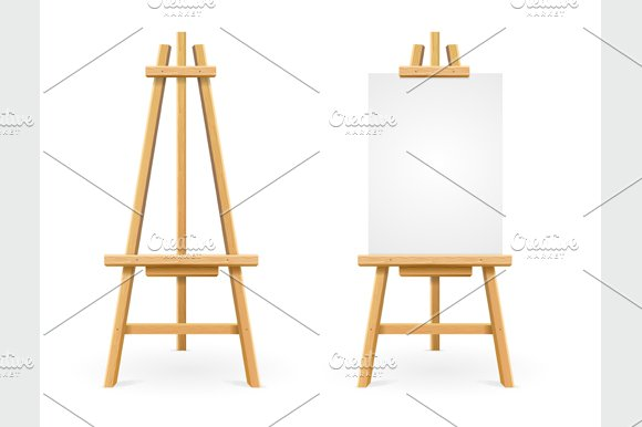 Paint Desk. Vector - Objects