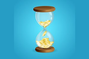 Time is Money Concept. Vector