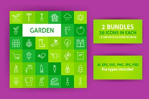 Garden Line Art Icons