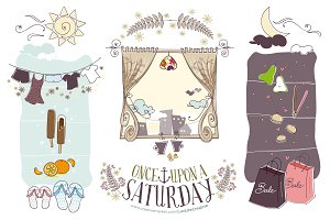 Once Upon a Saturday ~ Hand-drawn
