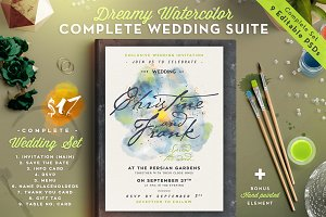Dreamy Watercolor Wedding Suite III