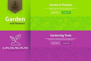 Garden & Flowers Line Web Banners