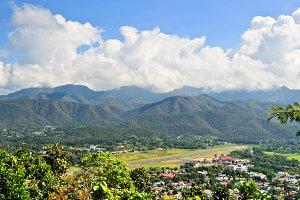 High view Mae Hong Son city