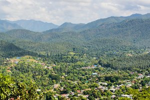 High view Mae Hong Son city