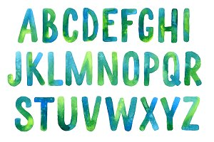 Watercolor alphabet