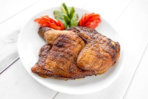 Grilled fried roast Chicken tobacco