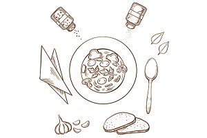 Sketch of dinner
