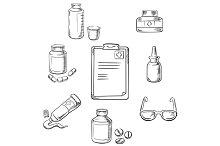 Prescription and medical sketch