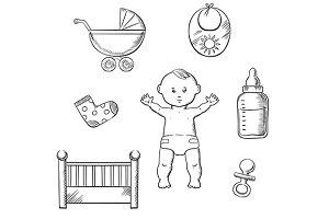 Baby sketch design