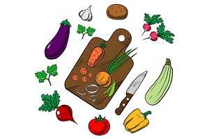 Cooking vegetarian salad