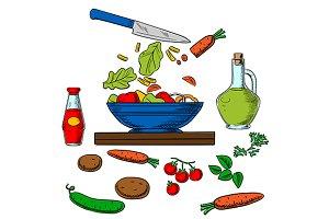 Cooking salad process