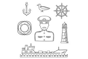 Sailor and captain profession
