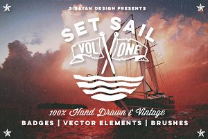 SET SAIL vol 1 - Nautical Vectors
