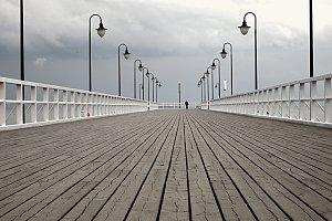 Man standing on the Pier