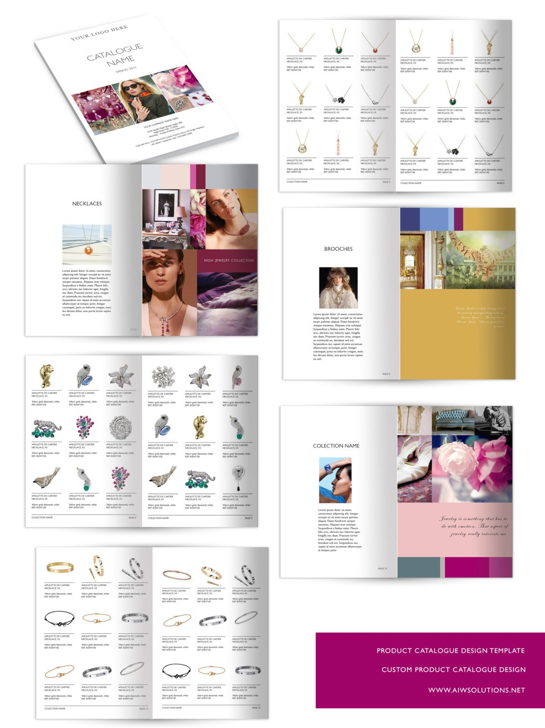 wholesale catalog template id01 magazine templates creative market