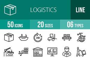 50 Logistics Line Icons