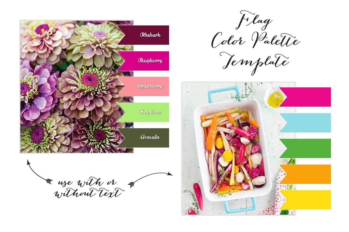 Flag Color Palette Layout for Blogs ~ Website Templates ~ Creative ...